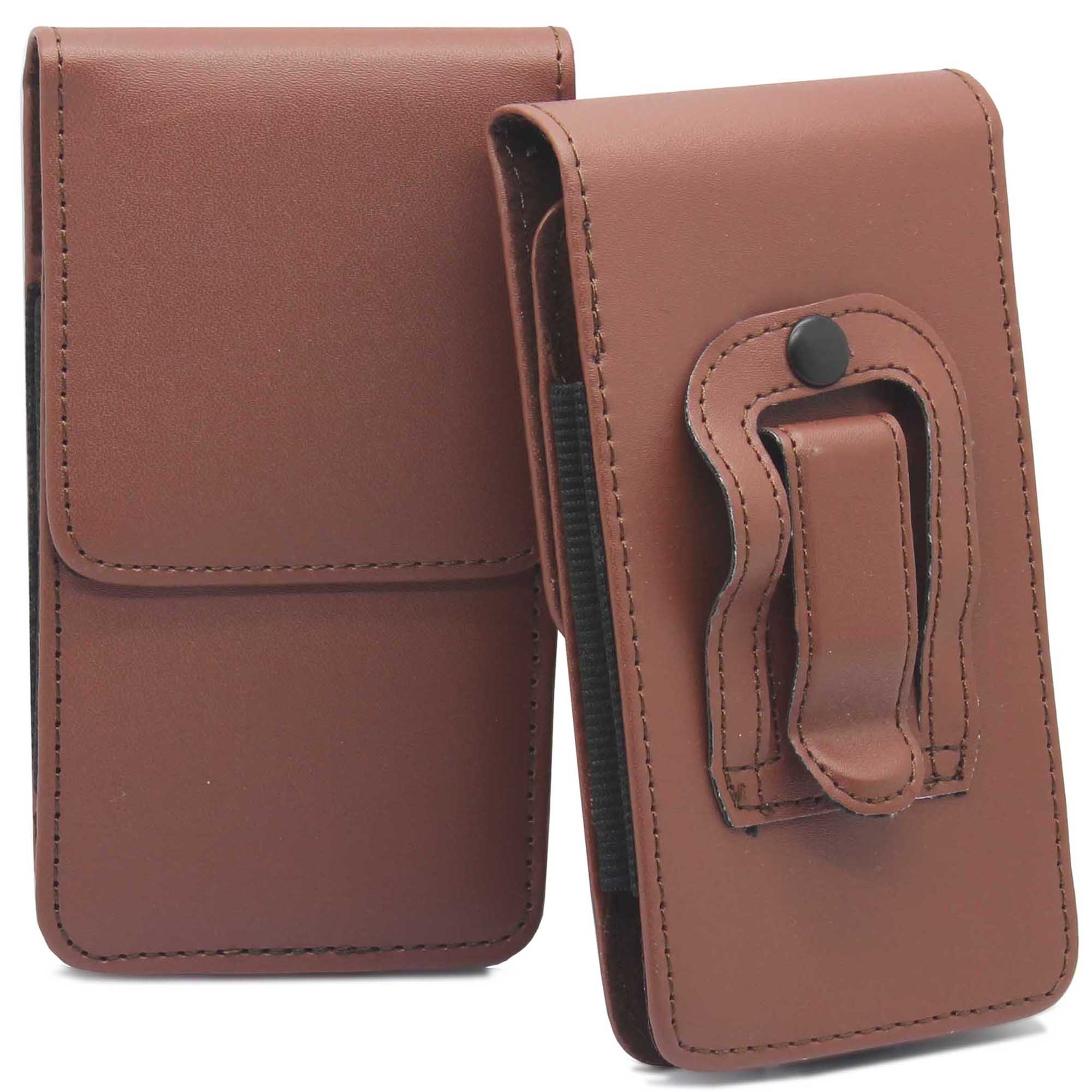 universal vertical leather belt pouch holster clip loop